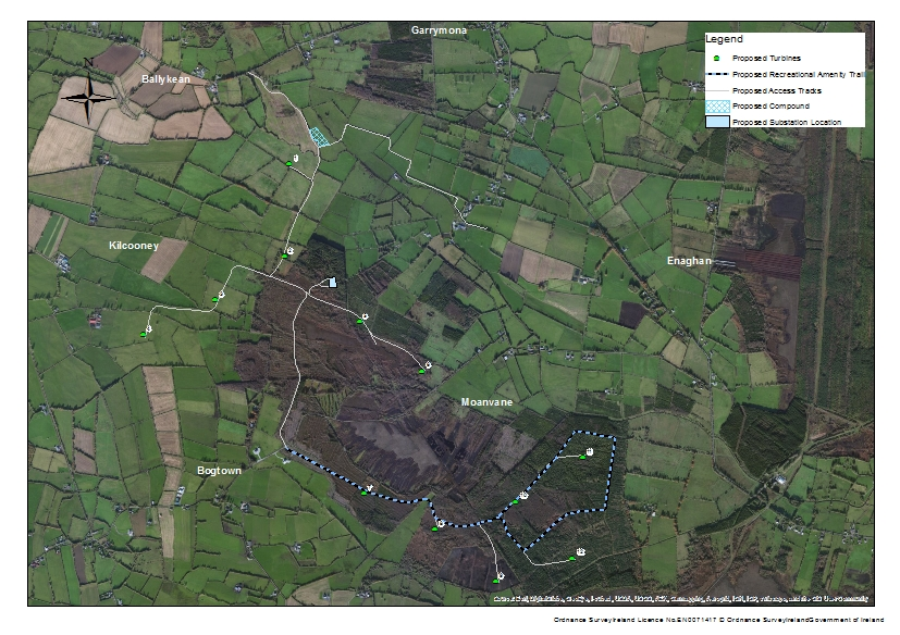 Moanvane Wind Farm project arial photo